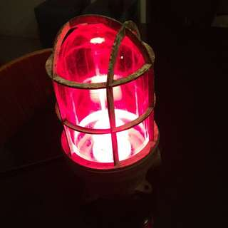 Up cycled Vintage Ship Elect Lamp