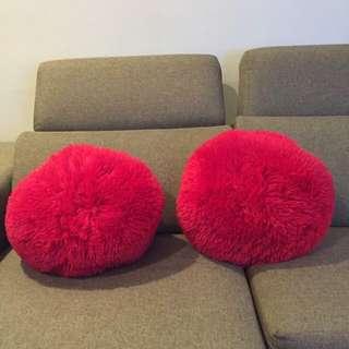 Red Fluffy Cushion
