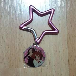 K-On! Keychain Hook Star Shape Mio and Yui