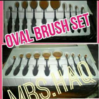 $35.00 ONLY!!! ONE TIME PROMO. OVAL BRUSH SET. PREORDER. 2~4 WEEKS  SERIOUS BUYER. KINDLY PM. NO NEGO. FREE NORMAL MAIL. ADD $4.00 For REG.MAIL