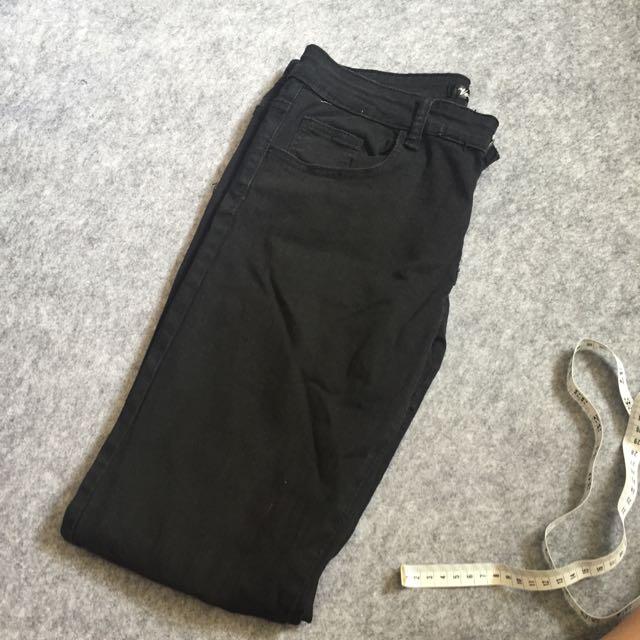👉(2手)彈性黑褲L號