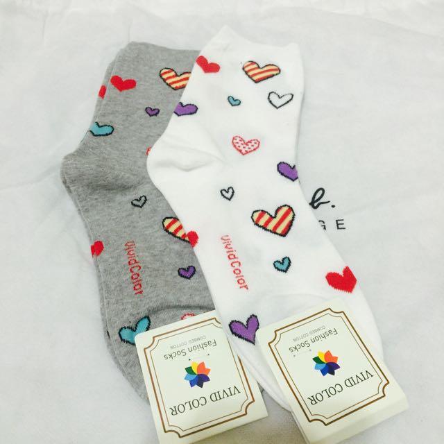 愛心襪襪兩雙