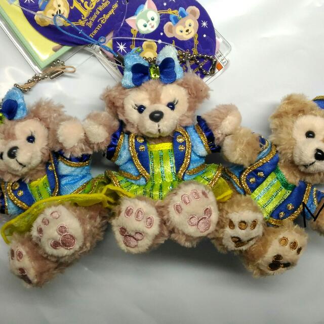 日本迪士尼 2016許願水晶 DUFFY 吊飾坐姿