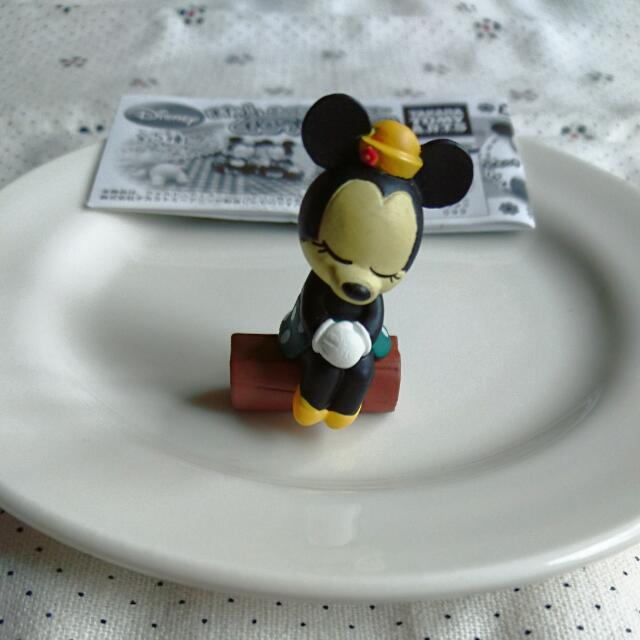 扭蛋 迪士尼 米妮 休眠 睡眠 坐姿 日本