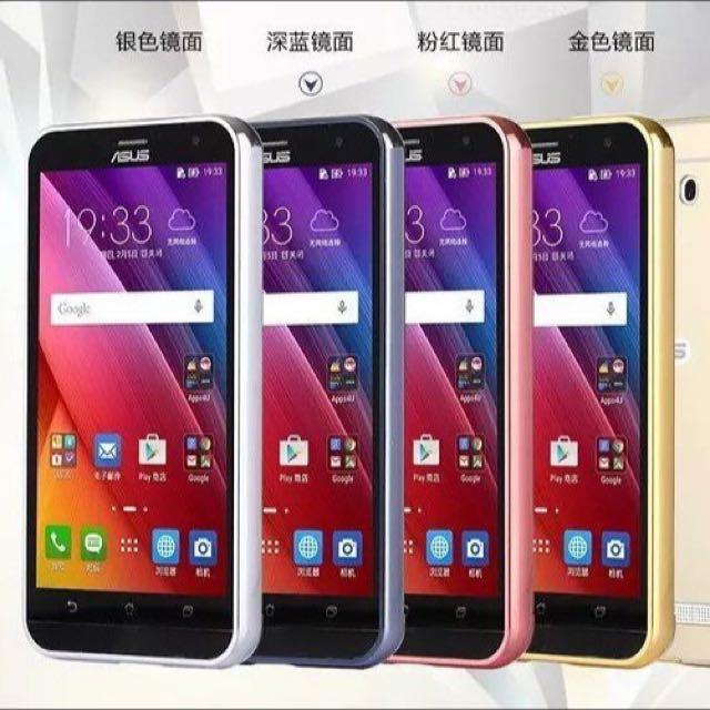 華碩Asus Zenfone Laser ZE500KL / ZE550KL 金屬邊框 鏡面後蓋 保護套 推拉式 手機殼 外殼