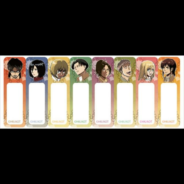 Attack On Titan 8 Pieces Sticky Notes