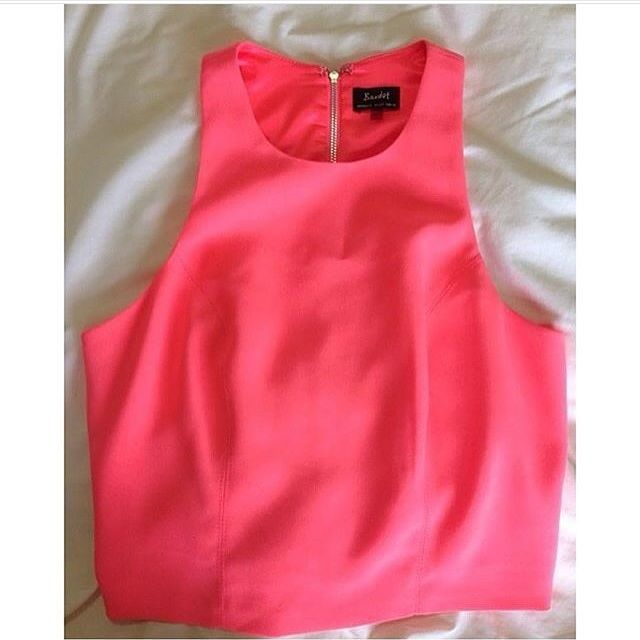 Bardot Pink Top