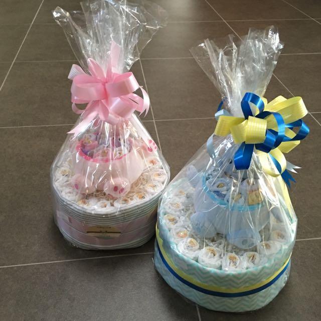 Boy Gift Nappy Cake