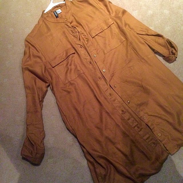 Camel H&M Shirt Dress - Size 12