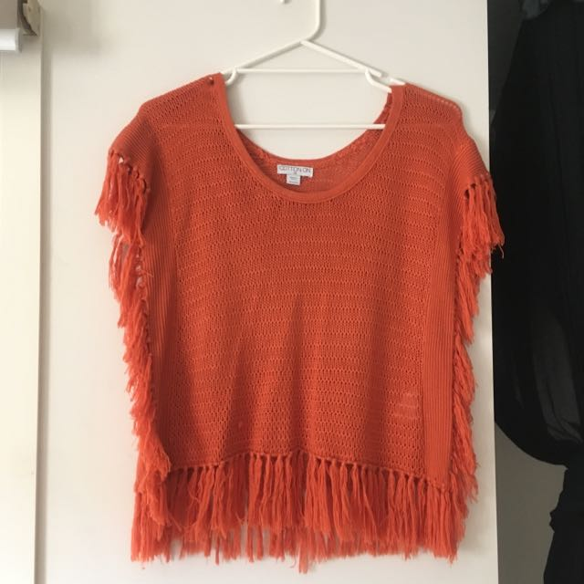 CottonOn Oragr Tassle Top