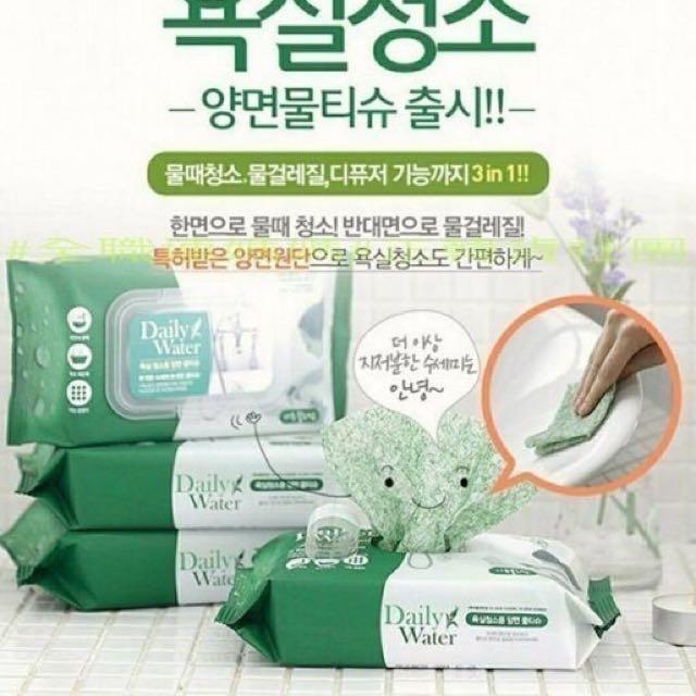 (母親節特價)現貨-家庭必備拋棄式雙面菜瓜布濕紙巾/1包40抽