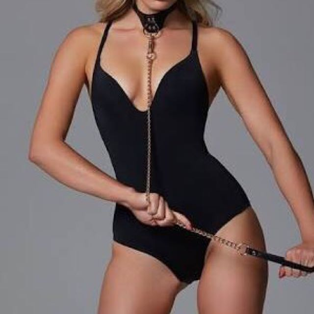 Honey Birdette Leather Collar And Chain