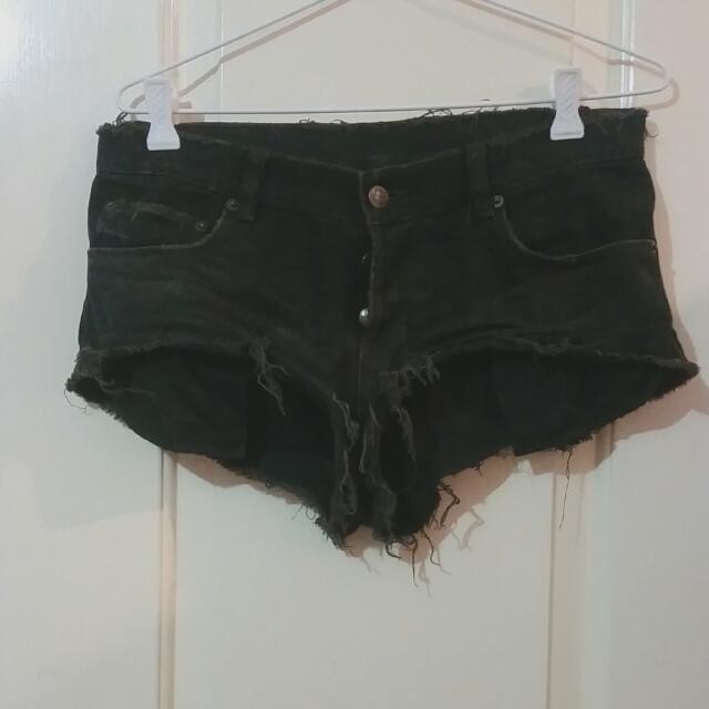 Ksubi Black Mini Shorts Size 26