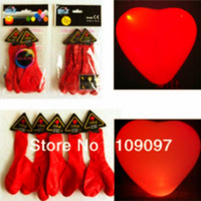 LED HEART SHAPED BALLOONS