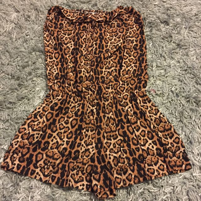 Leopard Print beachwear playsuit