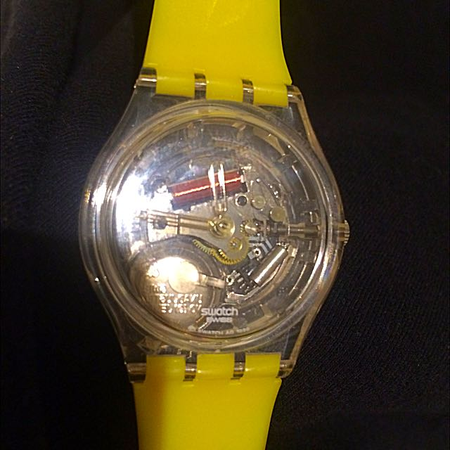Limited Edition exposed Yellow SWATCH Watch - Never Been Worn!