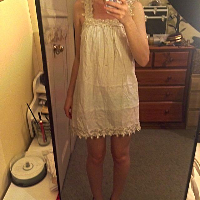 Live Girl cream dress