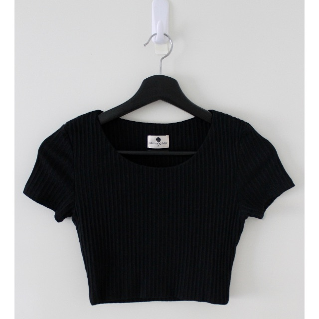 Morning Mist - Ribbed Crop Top