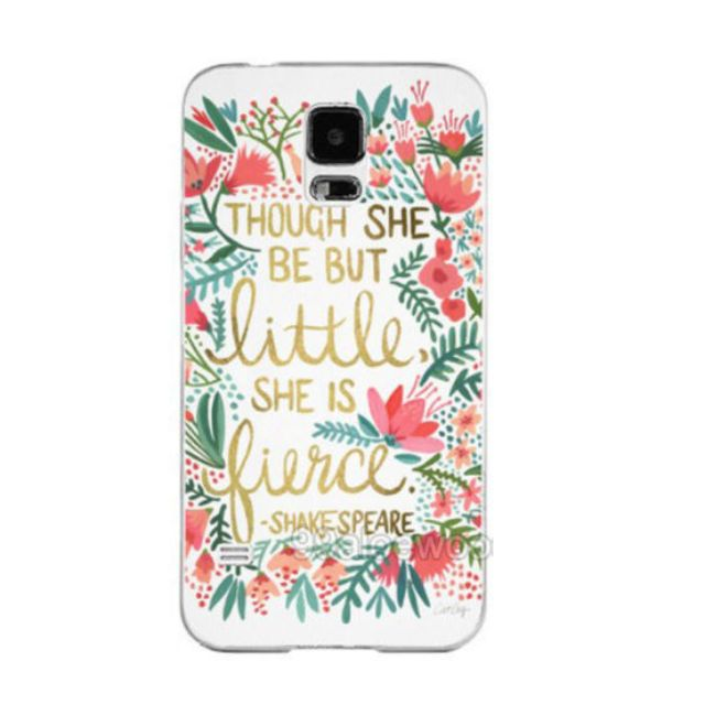 New Shakespeare Quote Phone Hard Case For Samsung Galaxy S4 S5