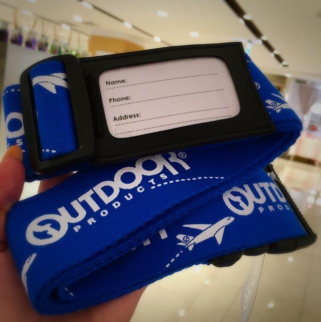 OutDoor 飛機行李箱手繪圖鴨綁帶-藍色