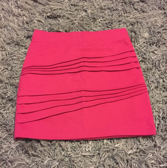 Pink bodycon Mini Skirt