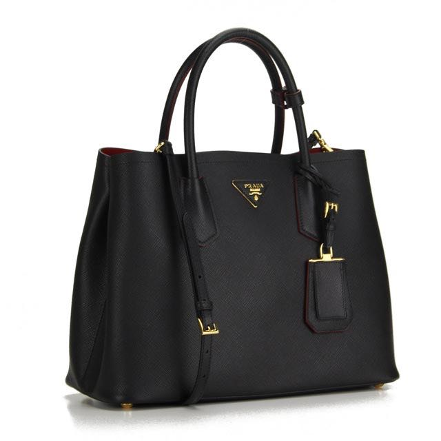 6216a48175e3 Prada BN2775 Saffiano Cuir Tote (Limited Edition) - Nero, Luxury ...