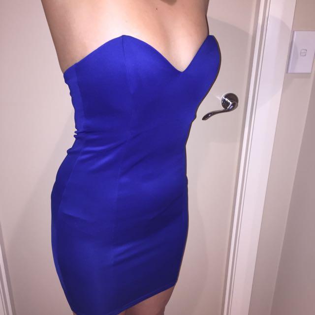 """""""Supre"""" XS Royal Blue Mini Dress"""