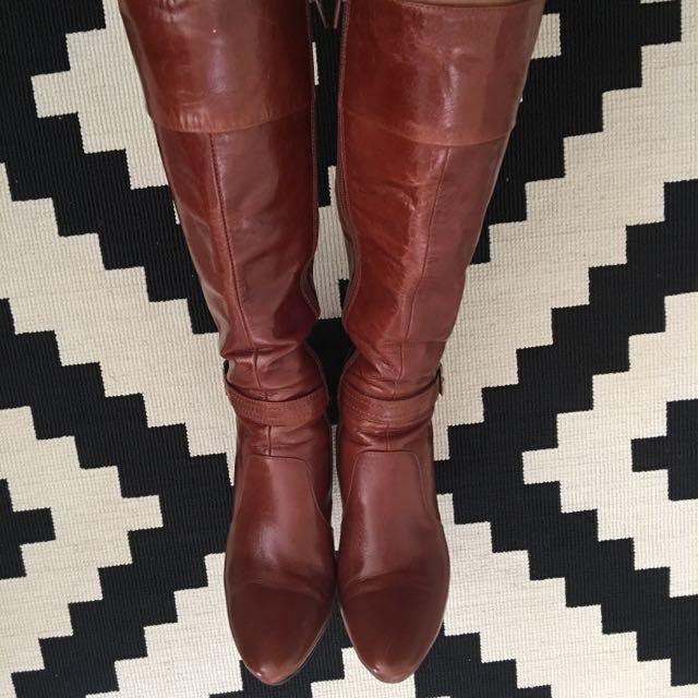 Tony Bianco Leather Boots Size 36