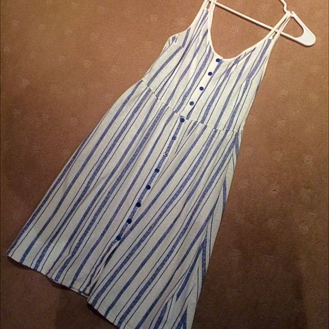 Topshop Nautical Midi Summer Dress