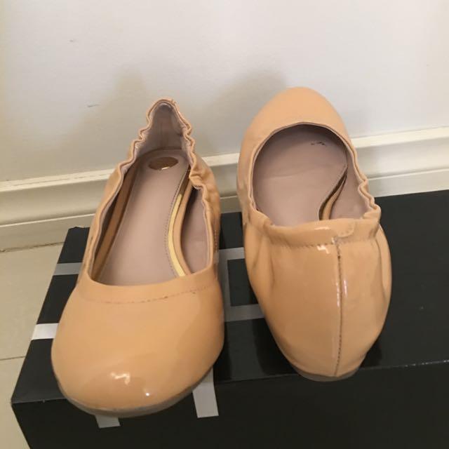 ZU Patent Nude Flats Size 6.5