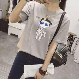 太陽☀️的後裔宋仲基可愛t恤 白色 藍色 灰色 純棉2016新款