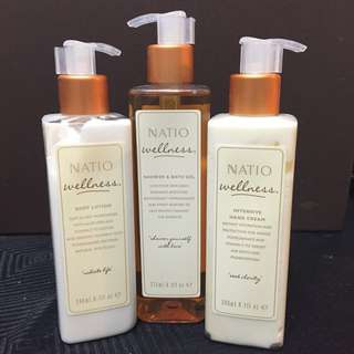 NATIO Body Wash, Body Lotion And Hand Cream