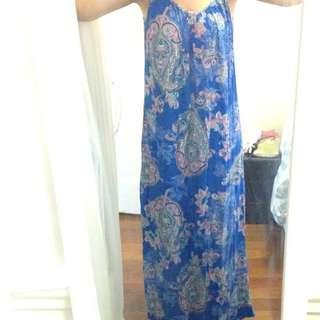 Maxi Bright Blue Dress Size 8