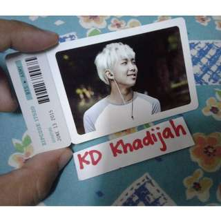 [OFFICIAL] BTS Rap Monster photo ticket