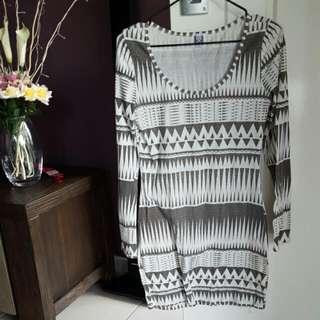 DISSH M/10 Trible Print Dress