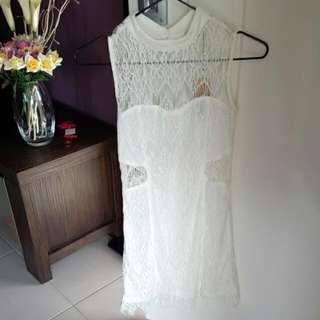 HELLOMOLLY S/8 White Lace Dress