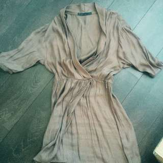 Large Size Zara Basic Wrap Dress