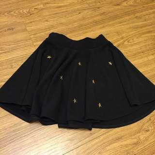 春夏款 黑色星星短裙