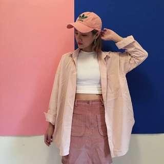 (保留)全新轉賣92pleats粉紅色襯衫