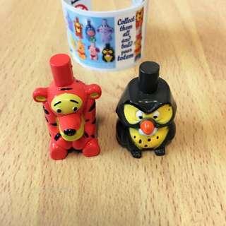 迪士尼 小熊維尼家族 跳跳虎 貓頭鷹 巧克力蛋 疊疊樂