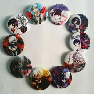 Anime Pin-back Badges