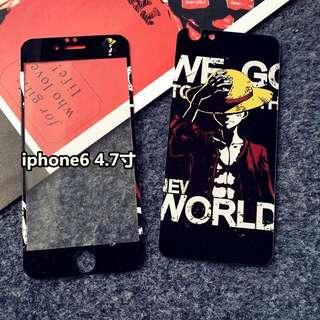 Iphone6/6s Plus海賊王前後鋼薄