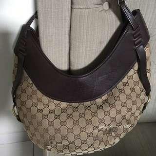 Gucci Monogram Hobo Authentic Bag