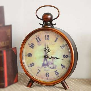 AB02-013 Vintage Paris Clock - Jam Meja Vinatge Paris