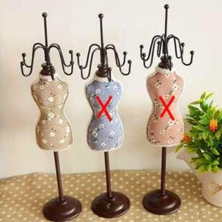 AB02-024 SMALL Floral Mannequin Jewelry Rack - Tempat Perhiasan