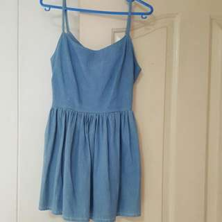 Denim Baby Doll Dress