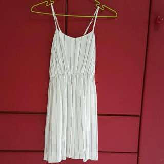 White Striped Baby Doll Dress