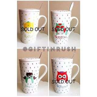 AC01-015 Owl Mug Collections / Cangkir Lucu Gambar Burung Hantu