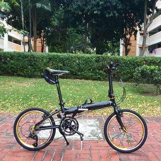 *INSTOCK* New Dahon VITESSE P18 Folding Bike Black/Gold (Fully Litepro Upgraded)
