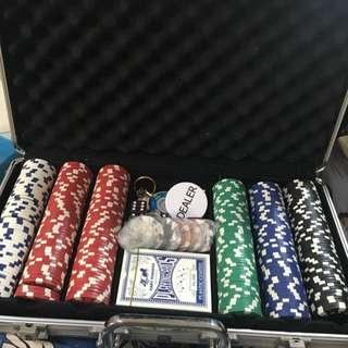 德州撲克牌+籌碼